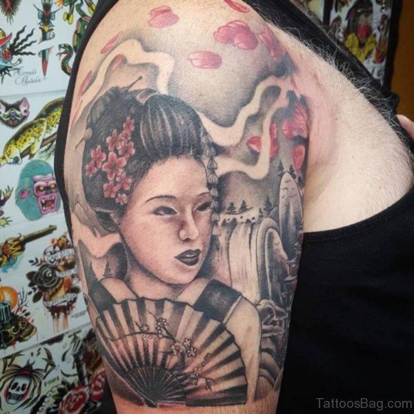 Elegant Geisha Tattoo