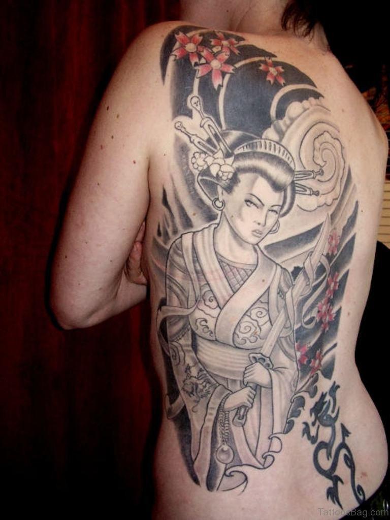 Geisha tattoo elegant geisha tattoo picture - Elegant Geisha Tattoo Design