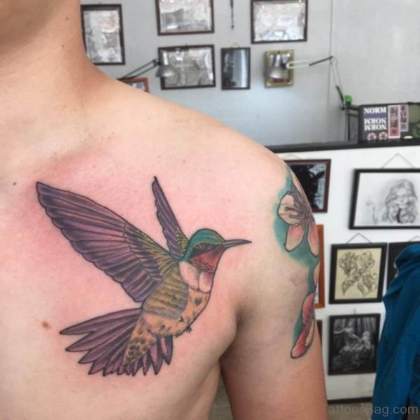 Elegant Hummingbird Tattoo