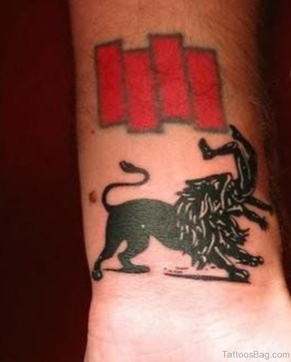 Elegant International Flag Tattoo On Wrist