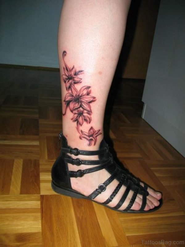 Elegant Lily Flowers Tattoo