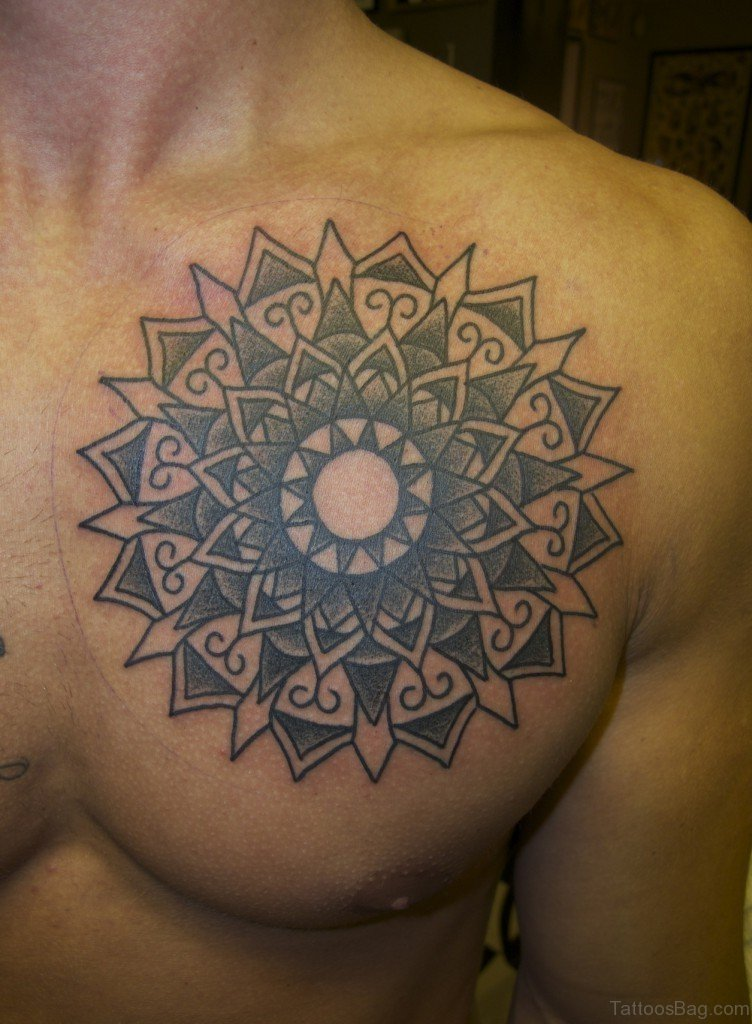 90 outstanding mandala tattoos on chest. Black Bedroom Furniture Sets. Home Design Ideas