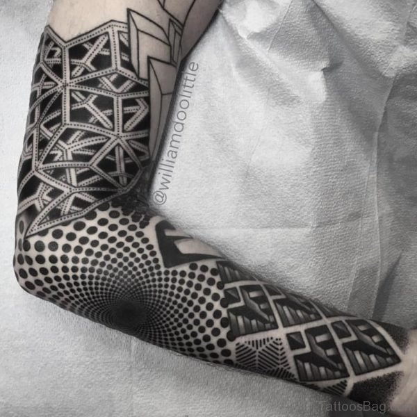 Elegant Mandala Tattoo On Full Sleeve