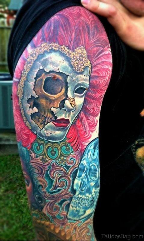 Elegant Mask Tattoo