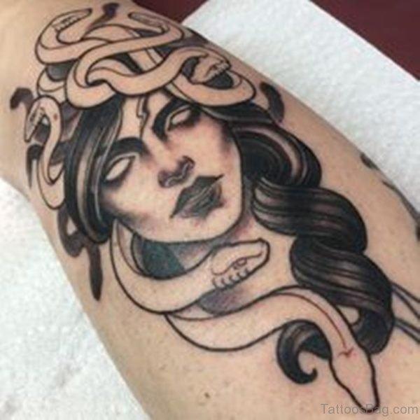 Elegant Medusa Tattoo Design
