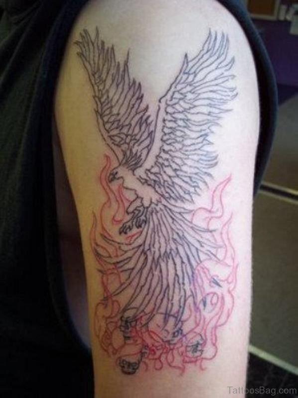 Elegant Phoenix Shoulder Tattoo