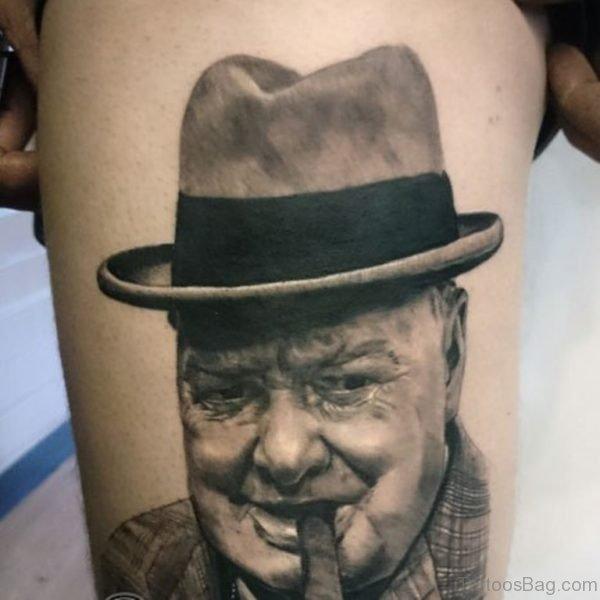 Elegant Portrait Tattoo design