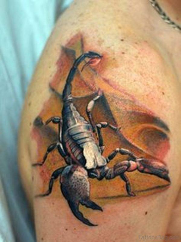 Elegant Scorpion Tattoo Design