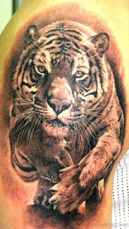 Elegant Tiger Tattoo Design
