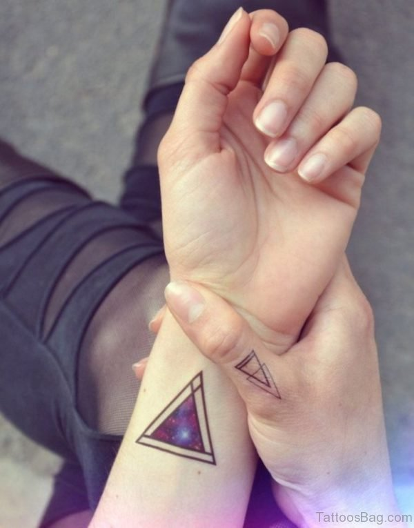 Elegant Triangle Tattoo On Wrist