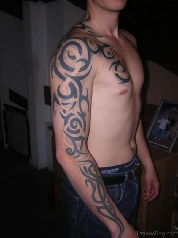 Elegant Tribal Tattoo Design
