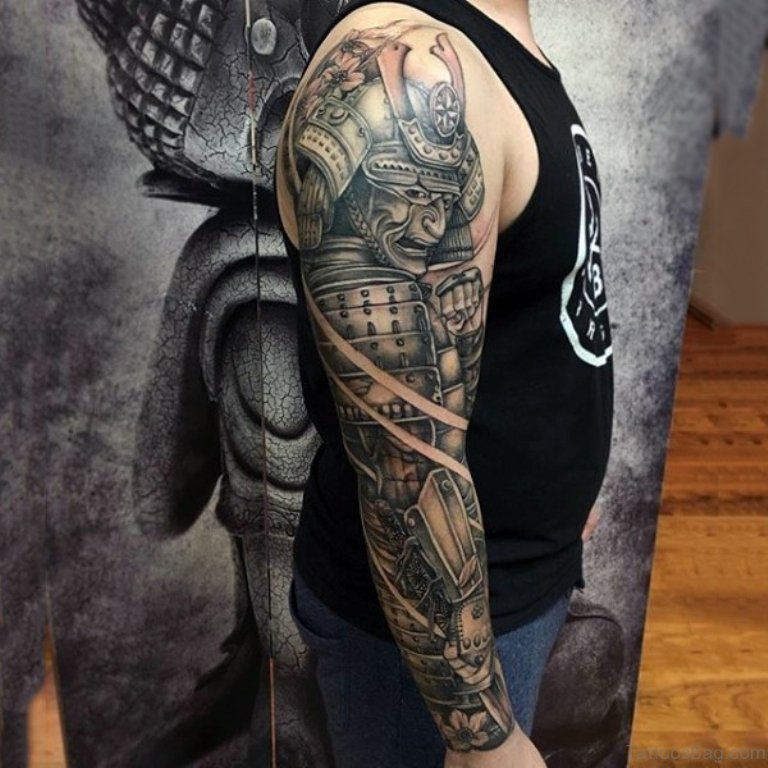 62 exclusive full sleeve tattoos for men for Warrior bible verse tattoos
