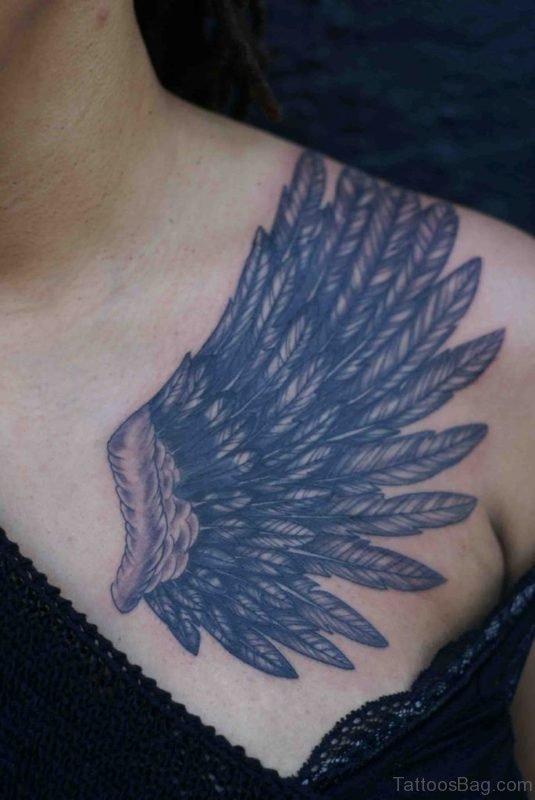 Elegant Wing Tattoo