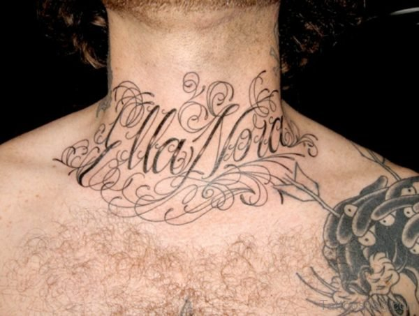 Ellanow Neck Tattoo