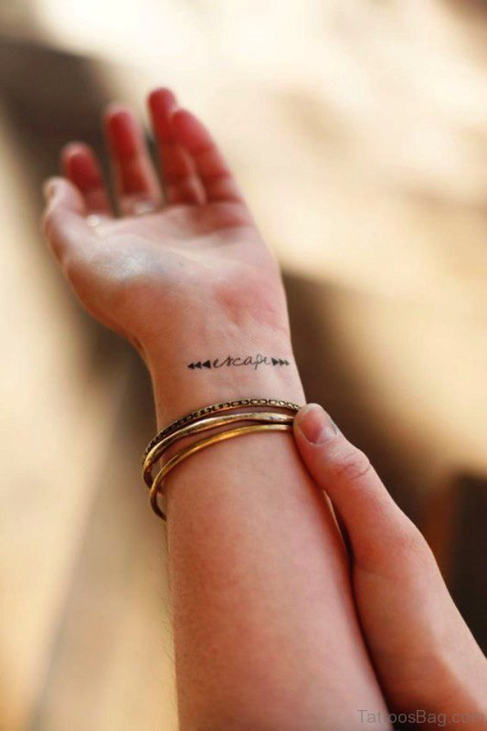 Escape Tattoo On Wrist