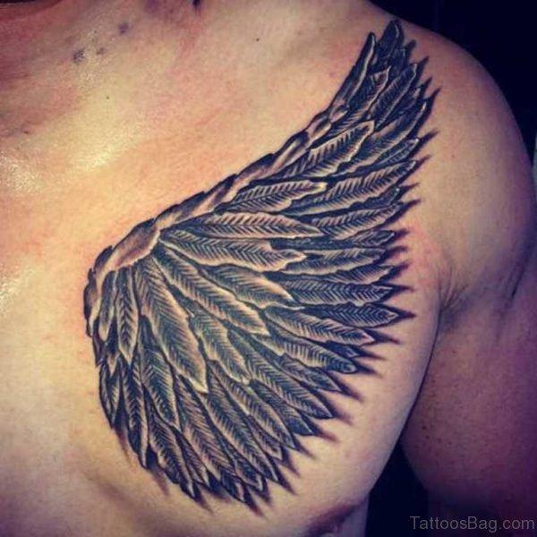 Evil Angel Wing Tattoo