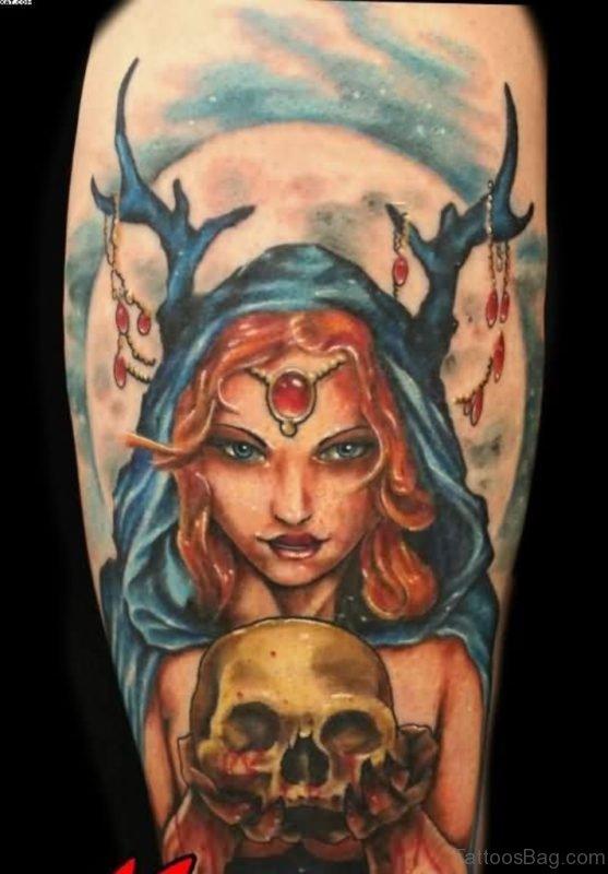 Evil Fairy Queen Zombie Tattoo