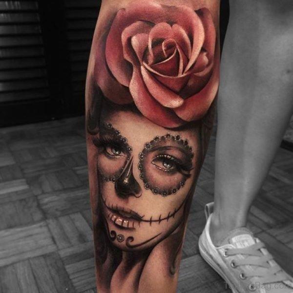 Evil Girl Portrait Tattoo