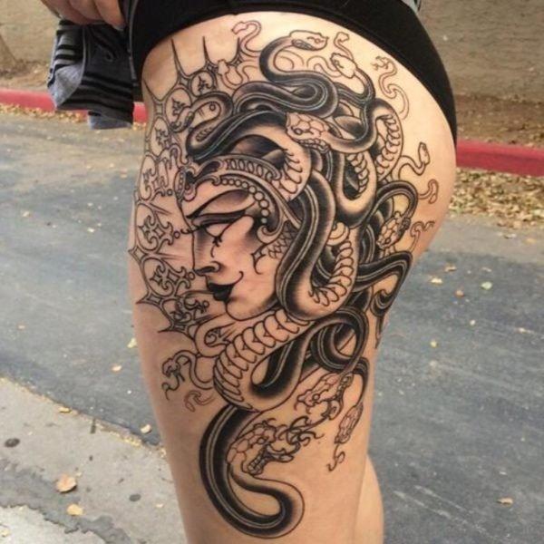 Evil Medusa Tattoo