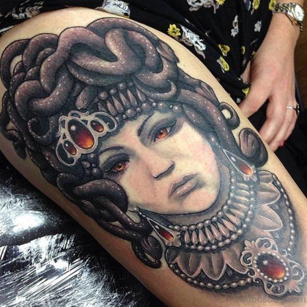 Evil Medusa Tattoo Design