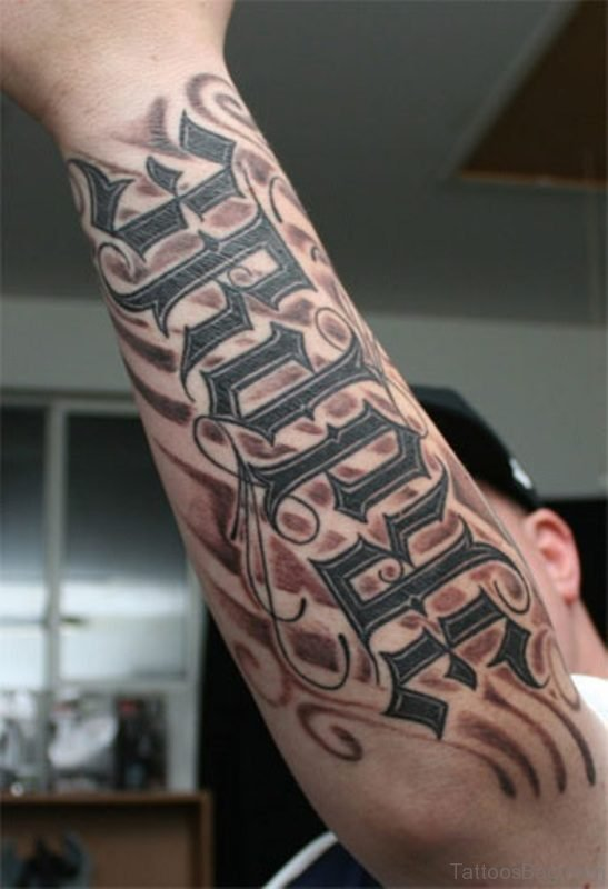 Excellent Ambigram Tattoo Design