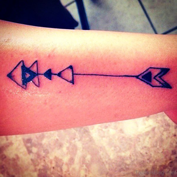 Excellent Arrow Tattoo On Arm