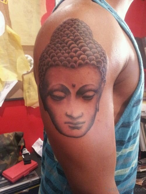 Excellent Buddha Face Tattoo