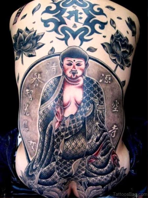 Excellent Buddha Tattoo Design 1