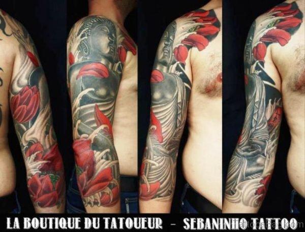 Excellent Buddha Tattoo Design