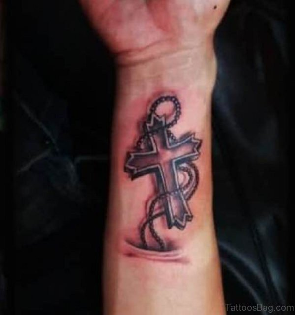 Excellent Cross Tattoo Design