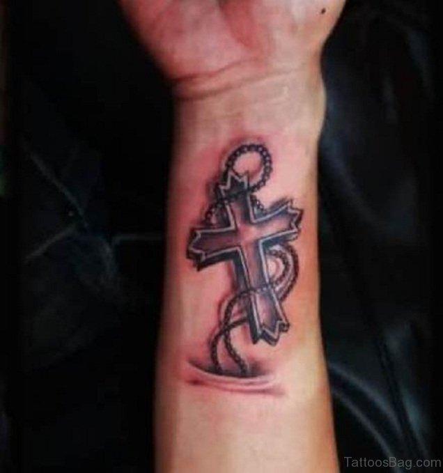 60 phenomenal cross tattoos on wrist. Black Bedroom Furniture Sets. Home Design Ideas