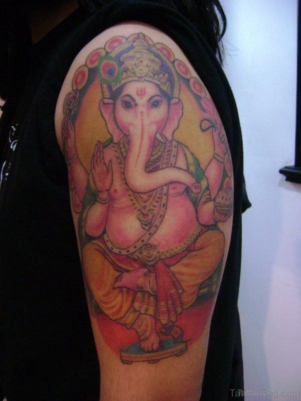 Excellent Ganesha Tattoo Design