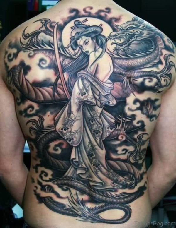 Excellent Geisha Tattoo