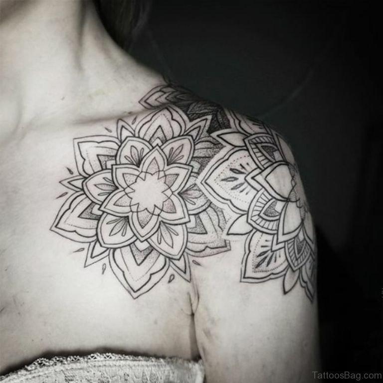 80 super duper mandala tattoo designs on shoulder for Mandala shoulder tattoo