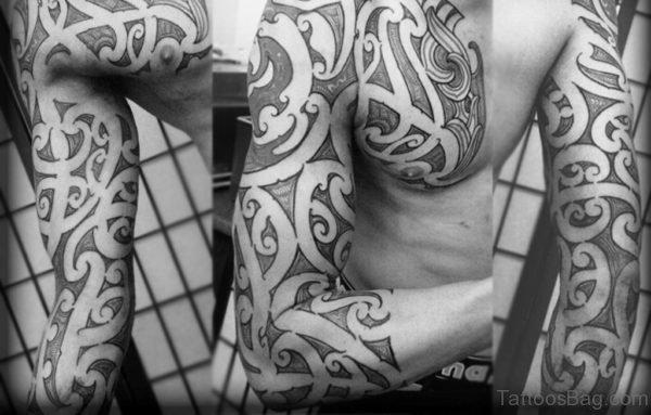 Excellent Maori Tribal Tattoo