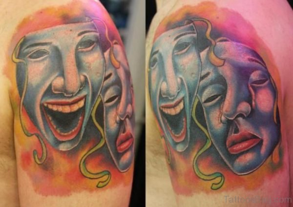 Excellent Mask Tattoo Designs