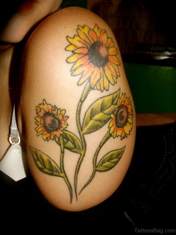 Excellent Sunflower Tattoo