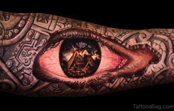 Eye Tattoo Full Sleeve Tattoo