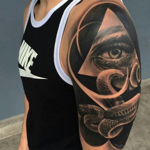 Eye and Snake Tattoo