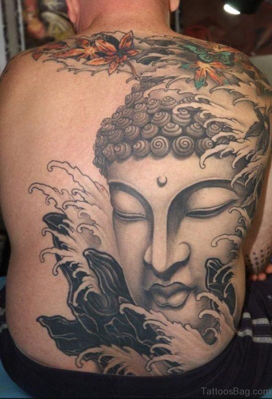 Fabulous Buddhist Tattoo On Back