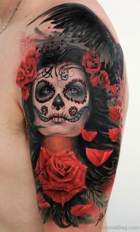 Wonderful Shoulder Tattoo