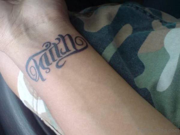 Fabulous Ambigram Tattoo