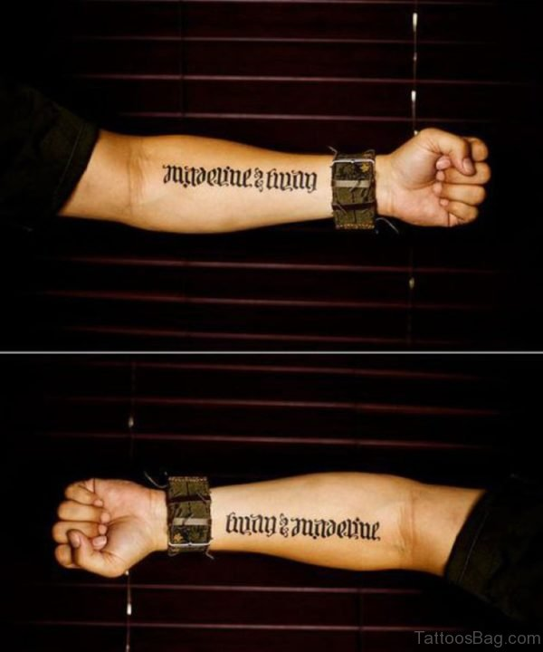Fabulous Ambigram Tattoo