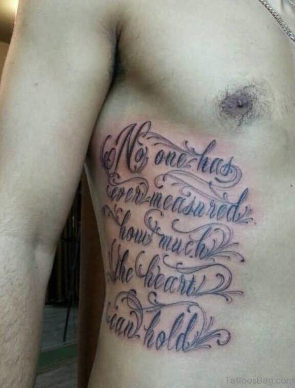 Fabulous Ambigram Tattoo On Rib