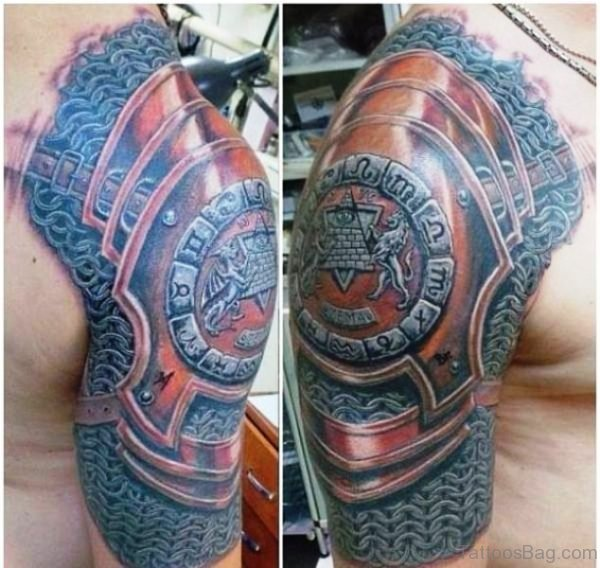 Fabulous Armour Shoulder Tattoo