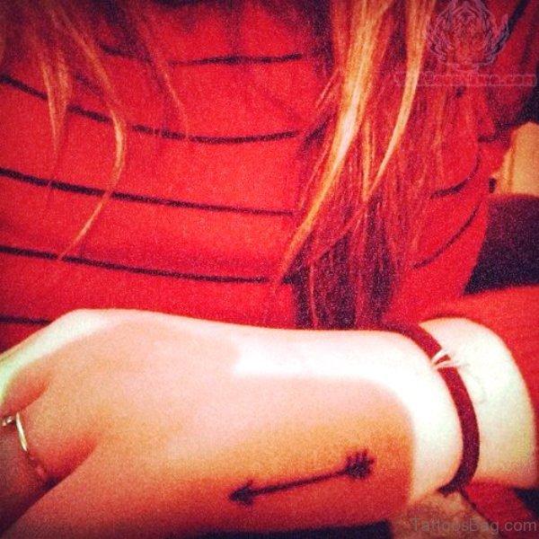 Fabulous Arrow Tattoo On Hand