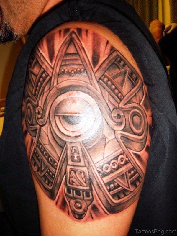 Fabulous Aztec Shoulder Tattoo