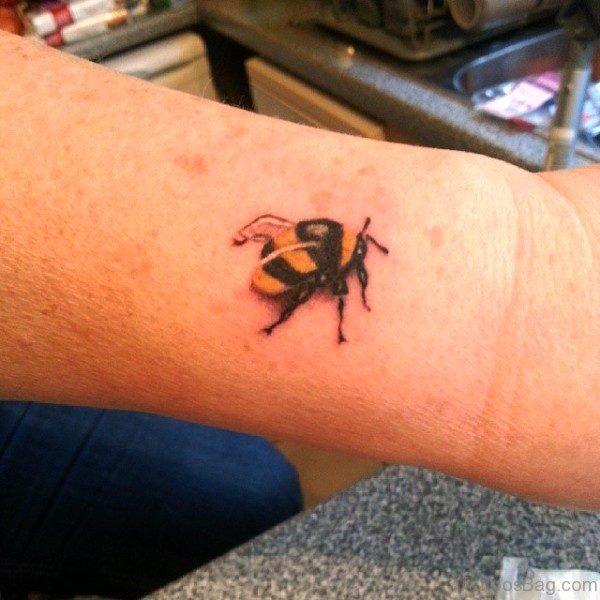 Fabulous Bee Tattoo On Wrist