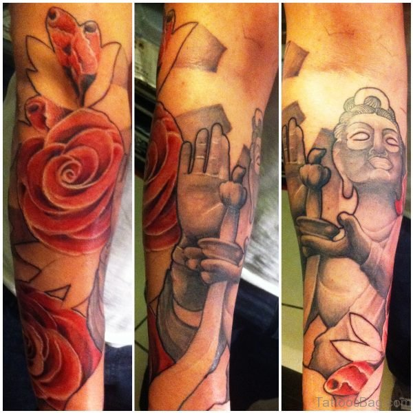 Fabulous Buddha Tattoo Design