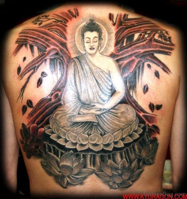 Fabulous Buddha Tattoo On Back